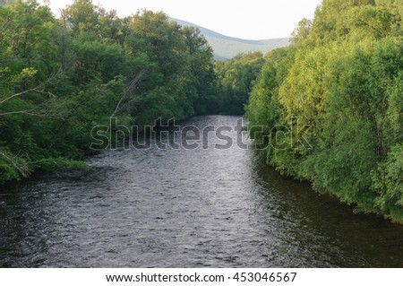 Mountain River .  Mountain River in the northeast of Khabarovsk Krai , Russia .