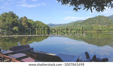 Mountain River Nature, find a delight to vacation in. Kanchanaburi, Thailand
