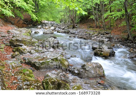 Mountain river, Rimeti, Romania - stock photo