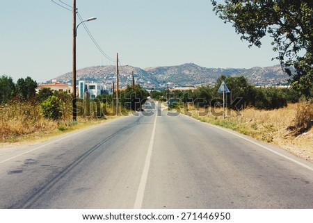 Mountain road - stock photo