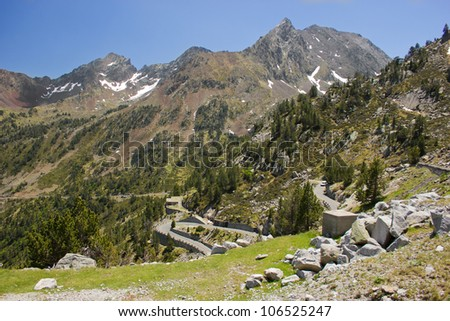 mountain road in French Pyrenees