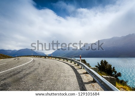 Mountain road. New Zealand