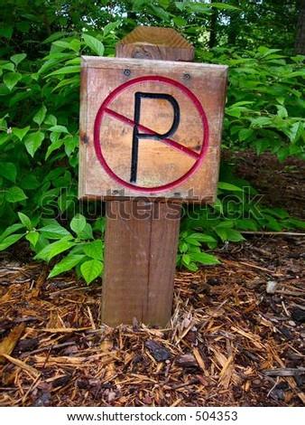 Mountain Road Sign - stock photo