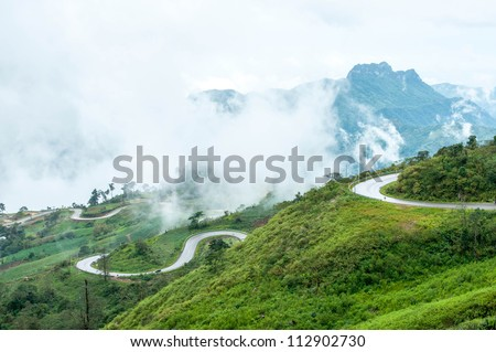 Mountain road ,Thailand - stock photo
