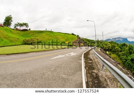 Mountain roads in South East Asia. - stock photo