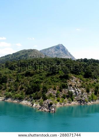 Mountain Sainte Victoire, Aix en Provence, France - stock photo