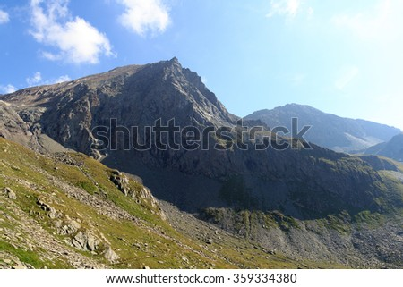 Mountain Saulkopf in Hohe Tauern Alps, Austria - stock photo