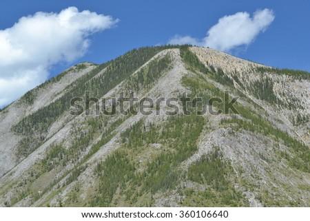 Mountain Scene - Alaska Highway -2015- pointed top  - stock photo