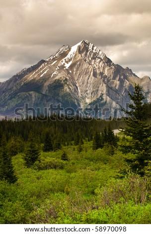 Mountain scene in Kananskis Country Alberta Canada - stock photo