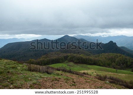 Mountain scenery of the Caucasus