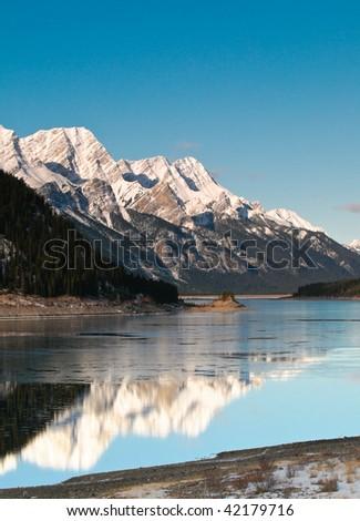 Mountain scenes in the Banff and Spray Lakes area Alberta, - stock photo