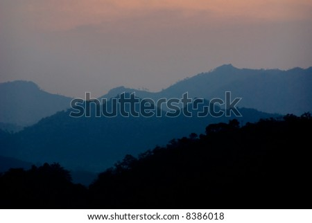 mountain silhouette