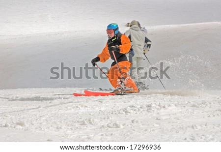 mountain-skier - stock photo