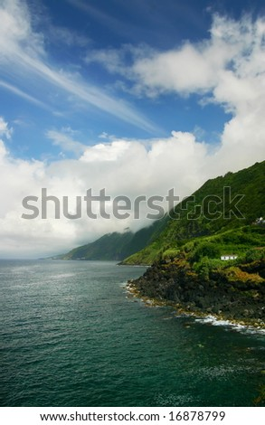 Mountain - St Jorge Island, Azores - stock photo