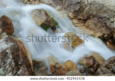 Mountain stream close up - stock photo