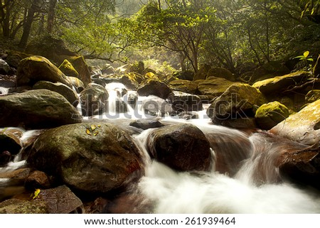 Mountain stream for adv or others purpose use - stock photo