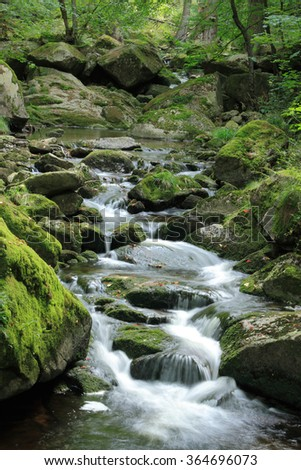 "Mountain stream ""Ilse"" in the Harz National Park, in Saxony-Anhalt / Germany"
