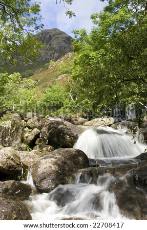 Mountain stream in the Lake District, England - stock photo
