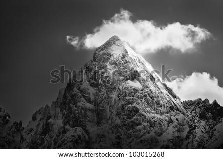 Mountain summit - stock photo