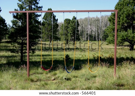 Mountain Swing - stock photo