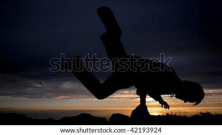 Mountain top break dancer