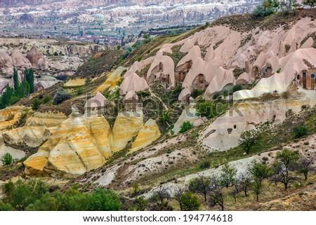 Mountain valley - Ihlara canyon, Cappadocia, Turkey  - stock photo