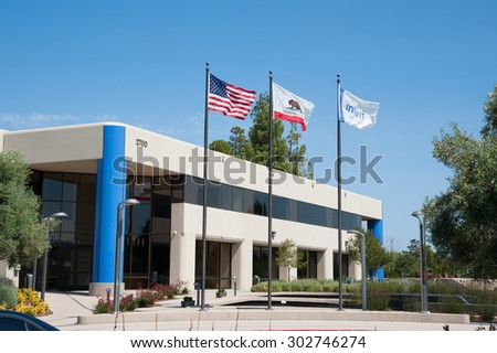 MOUNTAIN VIEW, CA - AUGUST 1, 2015: Intuit headquarters located in Mountain View, California on August 1 2015 - stock photo