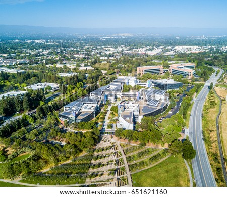 google hq office mountain view california. mountain view ca usa may 7 2017 googleplex google headquarters office buildings hq california