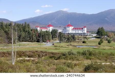 Mountain View Grand Resort in White Mountains, New Hampshire, USA - stock photo