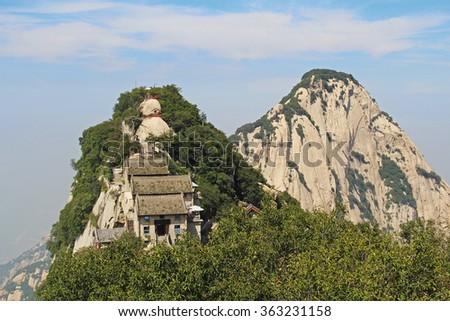 Mountain View Huashan, Xian, China - stock photo