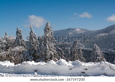 mountain view in Moravian Wallachia, natural park, skiing resort and area, Czech republic