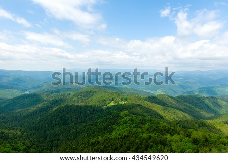 Mountain view in Romania - stock photo