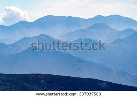 Mountain view near Achlada Village, Heraklion District, Crete Island, Greece - stock photo