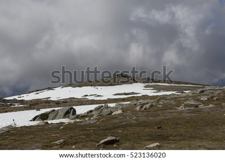 Mountain view, Serra da Estrela, the highest point of Portugal