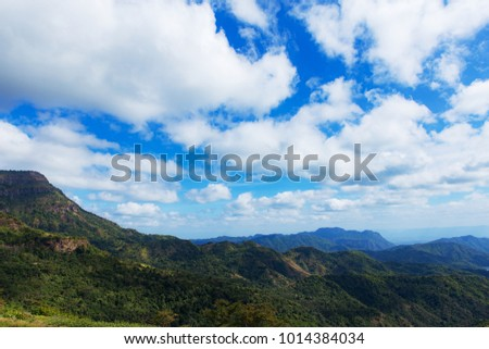 Mountain view with beautiful sky.