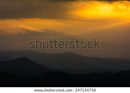 Mountain views, Landscape,Viewpoint on Doi Inthanon