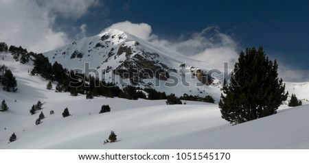 mountain winter landscape