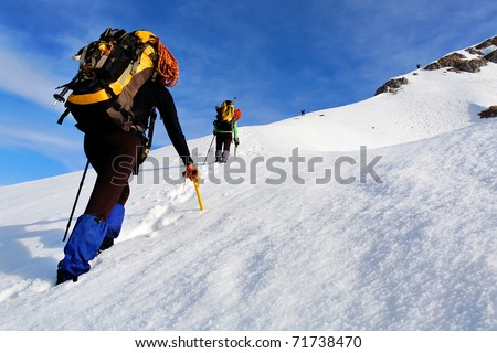 Mountain winter trekking