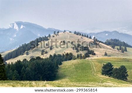 Mountain - Wysoki Wierch - in Little Pieniny, Poland - stock photo