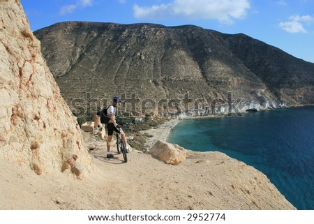 Mountainbiking at Cabo de Gata, Spain