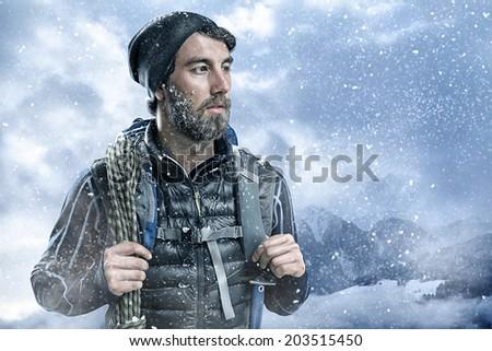 Mountaineer - stock photo