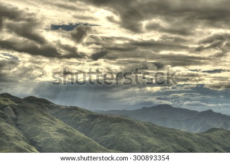 Mountainous Region in Chin State of Western Myanmar (Burma) - stock photo