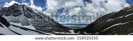 Mountains above Ushuaia, Argentina - stock photo
