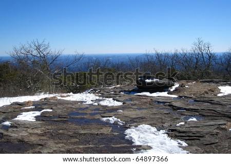 Mountains along the Appalachian Trail in Georgia - stock photo