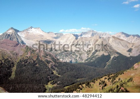 Mountains and Lakes, Maroon Bells, Colorado - stock photo