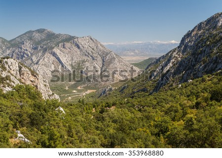 Mountains around the ruins of the ancient city of Termessos, Turkey