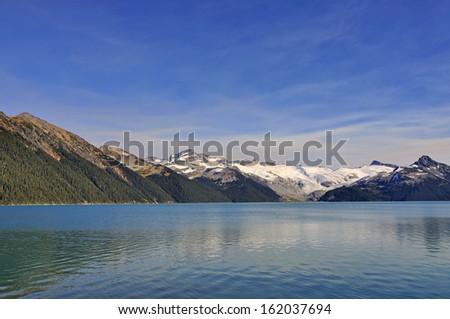 mountains by Garibaldi Lake - stock photo