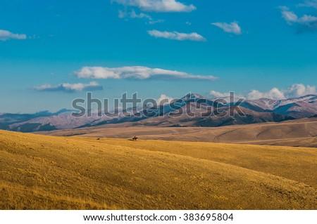 Mountains colorful landscape - stock photo