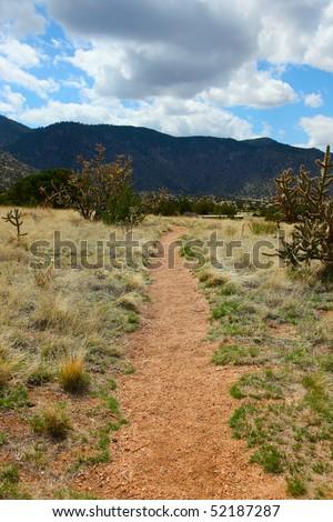 mountains in Albuquerque - stock photo