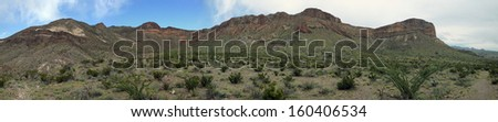 Mountains in Big Bend National Park, Texas - stock photo